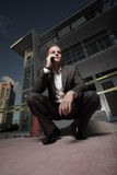 взгляд бизнесмена угла земной Стоковые Фото