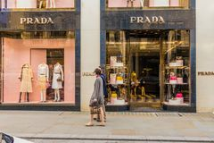 Взгляд богатой улицы скрепления в Лондоне стоковое фото