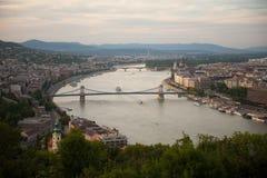 Взгляд Будапешт, Венгрии стоковое изображение rf