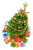 взгляд вала рождества цветастый верхний Стоковые Изображения