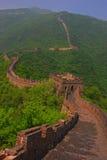 Взгляд Великой Китайской Стены на Mutianyu Стоковые Изображения