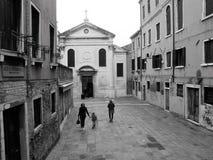 Взгляд Венеции в черно-белом стоковая фотография rf