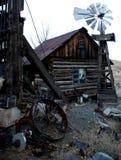 взгляд вертикали городка дома привидения старый Стоковые Фотографии RF