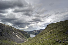 взгляд верхушкы озера Ирландии Стоковая Фотография RF