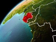Взгляд вечера Габона на земле Стоковое фото RF