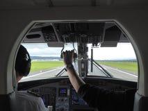 Взгляд взлётно-посадочная дорожка от арены воздушных судн Стоковое Изображение RF