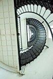 Взгляд винтовой лестницы внутри маяка Августина Блаженного Стоковое Изображение RF