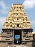 Взгляд виска Sri Kachabeswarar в Kanchipuram, Индии стоковое фото