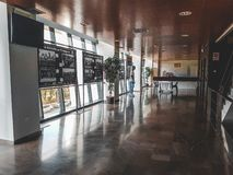 Взгляд внутри стадиона Малага стоковое фото rf