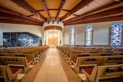 Взгляд внутри церков Стоковые Фото