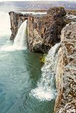 Взгляд водопада Godafoss, Исландии Стоковая Фотография