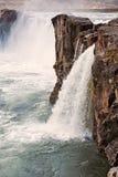 Взгляд водопада Godafoss, Исландии Стоковые Фотографии RF