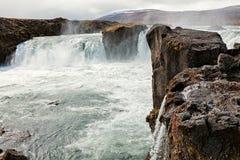 Взгляд водопада Godafoss, Исландии Стоковые Фото
