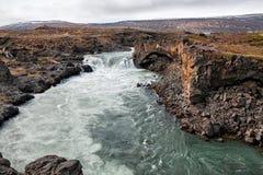 Взгляд водопада Godafoss, Исландии Стоковое Фото