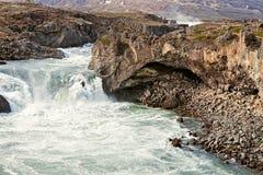 Взгляд водопада Godafoss, Исландии Стоковые Изображения RF