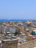 взгляд воздушного города среднеземноморской Стоковые Изображения RF