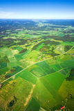 взгляд воздушного ландшафта сельский Стоковая Фотография RF