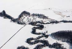 взгляд воздушного людского выселка малый Стоковые Фотографии RF