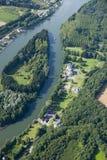 взгляд воздушного реки острова малый Стоковые Изображения RF