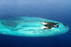взгляд воздушных островов maldive Стоковая Фотография