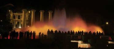 Взгляд волшебного фонтана Montjuïc стоковая фотография rf