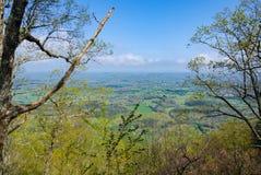 Взгляд восточного Теннесси от горы дома Стоковое фото RF