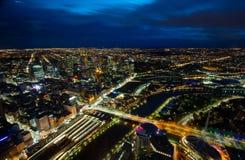 Взгляд восхода солнца Мельбурна Стоковое Изображение RF