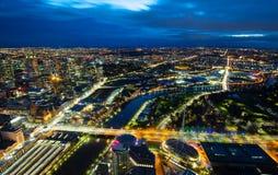 Взгляд восхода солнца Мельбурна Стоковая Фотография RF