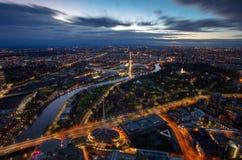 Взгляд восхода солнца Мельбурна Стоковые Фотографии RF