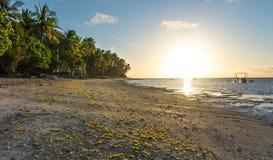 Взгляд восхода солнца на Anda белом Лонг-Бич на острове Bohol Стоковая Фотография RF