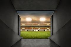 Взгляд входа футбольного стадиона стоковое фото