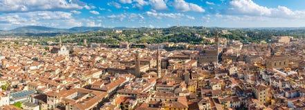 Взгляд высокого разрешения панорамный города Флоренса стоковые фотографии rf