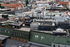 Взгляд высокого угла исторического центра города Мюнхена от кудели стоковые изображения rf