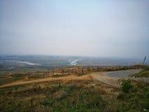 Взгляд высокого угла реки Siret Стоковое Изображение RF