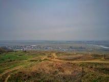 Взгляд высокого угла реки Siret стоковое изображение