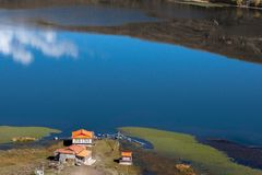 Взгляд в гористой местности, Сычуань, Китае стоковая фотография