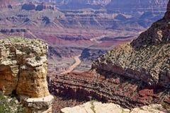 Взгляд в гранд-каньон стоковые фотографии rf