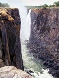 Взгляд в каньоне викторианских падений стоковые фотографии rf