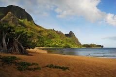 взгляд Гавайских островов панорамный Стоковые Фото