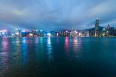 Взгляд гавани Виктории, Гонконга стоковая фотография rf