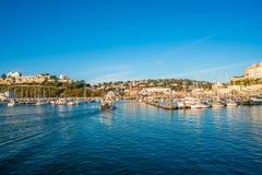 Взгляд гавани Торки, южного Девона, Великобритании Стоковые Изображения