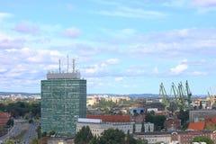 Взгляд Гданьска, участок груза Стоковые Изображения