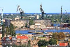 Взгляд Гданьска, участок груза Стоковые Фото