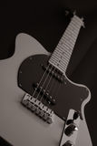 взгляд гитары низкий Стоковое Изображение
