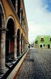 Взгляд главной площади в исторической город-крепости Сан-Франциско стоковая фотография