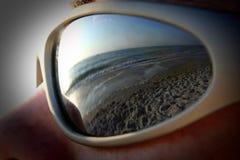взгляд глаза пляжа Стоковое фото RF