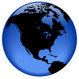 взгляд глобуса америки северный Стоковое Изображение