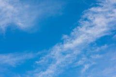 Взгляд голубого неба снизу стоковая фотография rf
