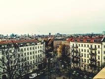 Взгляд горизонта Берлина от Mitte Стоковые Изображения RF