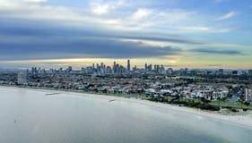 Взгляд горизонта города Мельбурна стоковое фото
